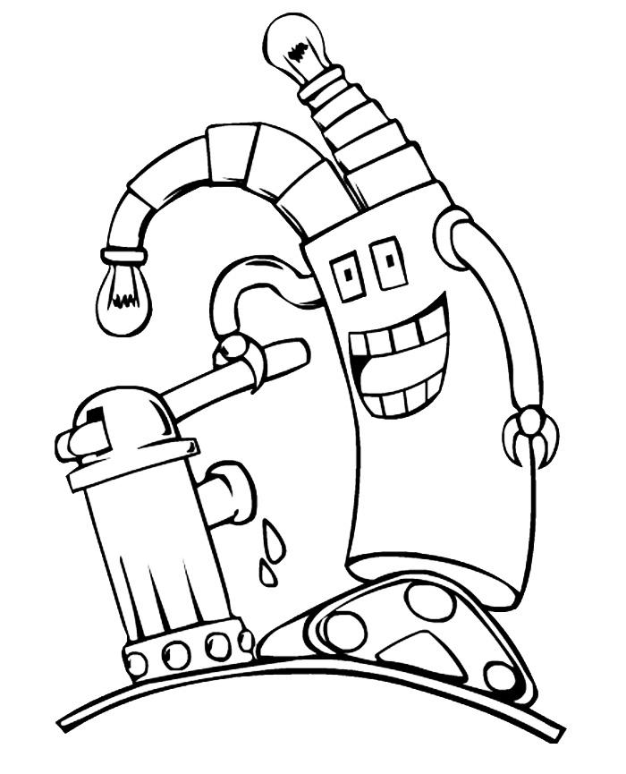 Раскраска Глупышка-робот распечатать или скачать бесплатно