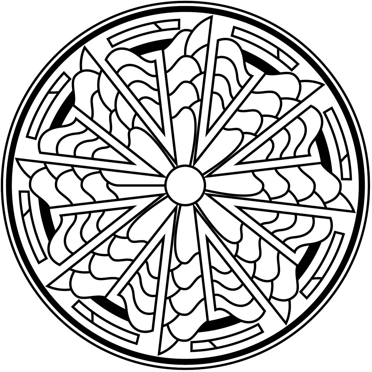 Раскраска Зендала Солнечная распечатать или скачать бесплатно