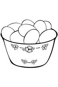 Раскраска Пасхальное яйцо с сердечками распечатать или ...