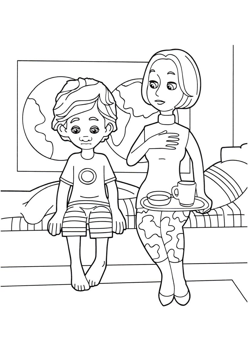 Раскраска ДимДимыч и мама распечатать или скачать бесплатно