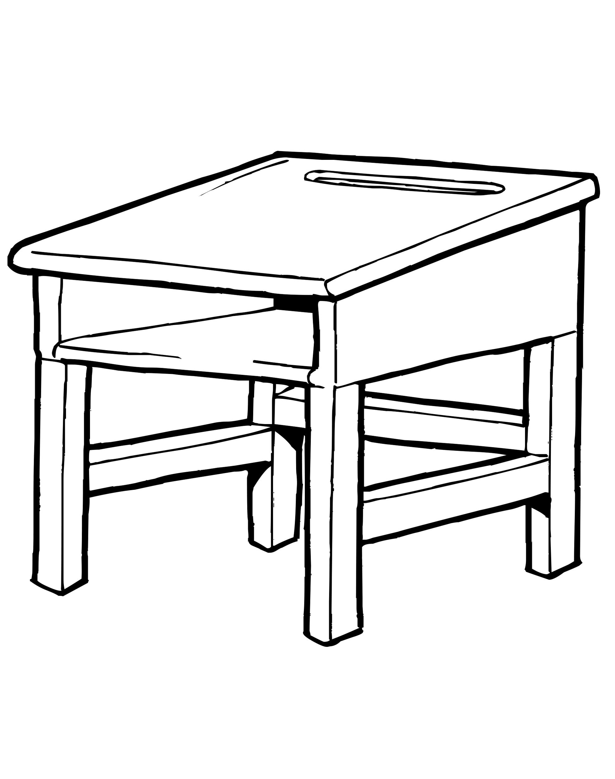 Рисунок парты и стула
