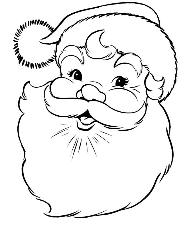 Раскраска Дед Мороз просит рассказать стишок распечатать ...