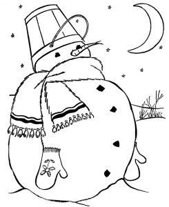 Раскраска Снеговик для малышей распечатать или скачать ...