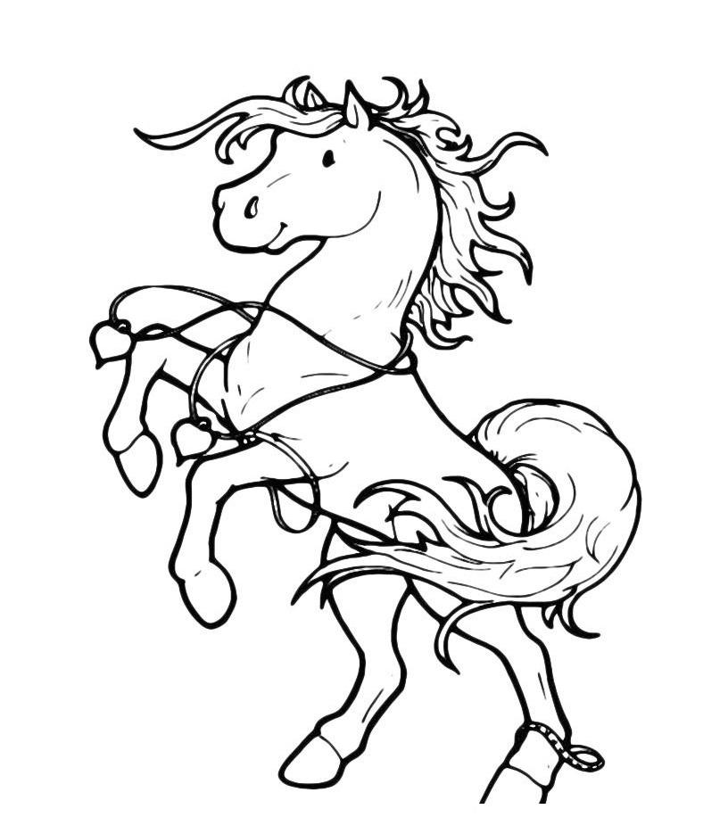Раскраска Игривый пони распечатать или скачать бесплатно