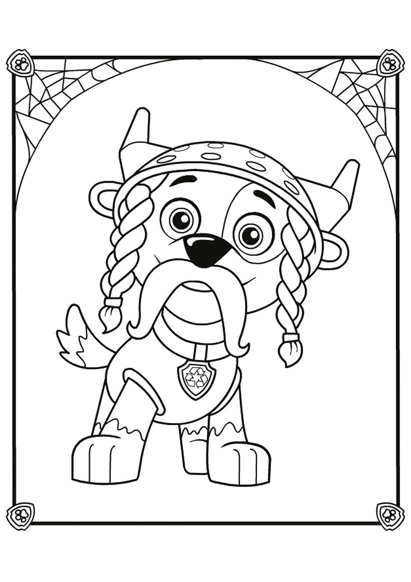 Раскраска Рокки на Хэллоуин распечатать или скачать бесплатно