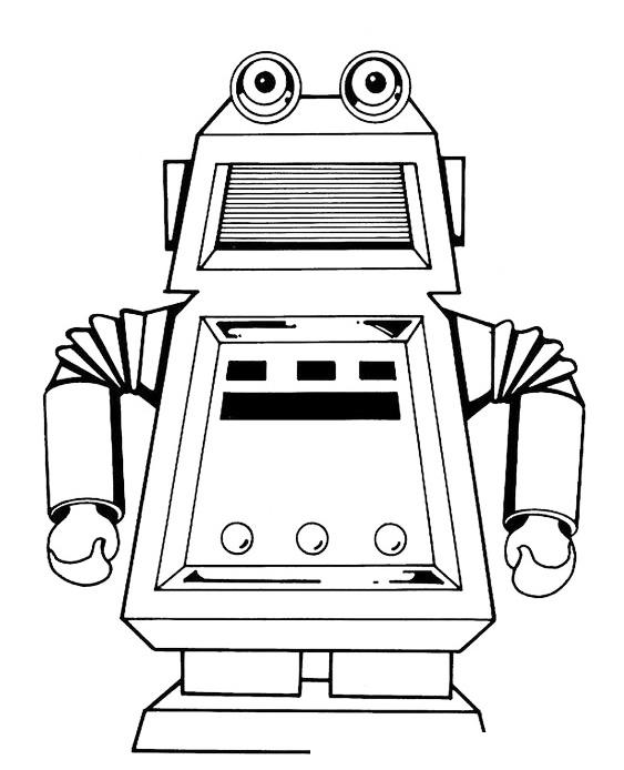 Раскраска Робот-автомат газировки распечатать или скачать ...