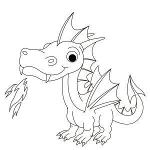 Раскраска Злой дракон распечатать или скачать бесплатно