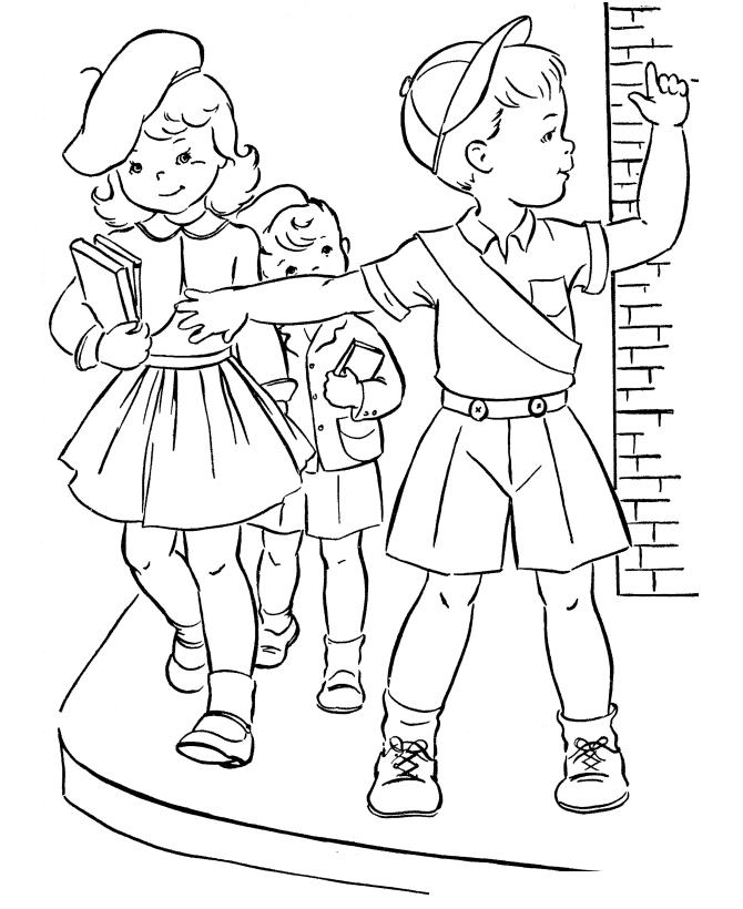 Раскраска Дорога в школу распечатать или скачать бесплатно