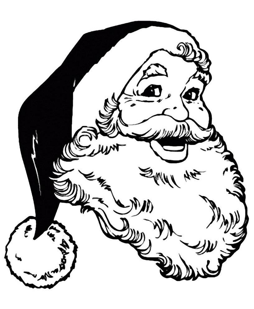 Дед мороз картинки для раскрашивания лицо все