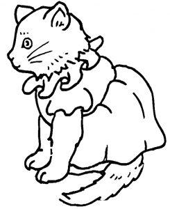Раскраска Кот и золотая рыбка распечатать или скачать ...