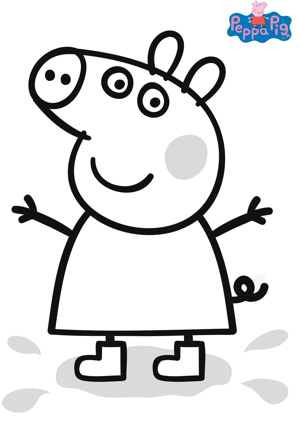 Раскраска Свинка Пеппа распечатать или скачать бесплатно