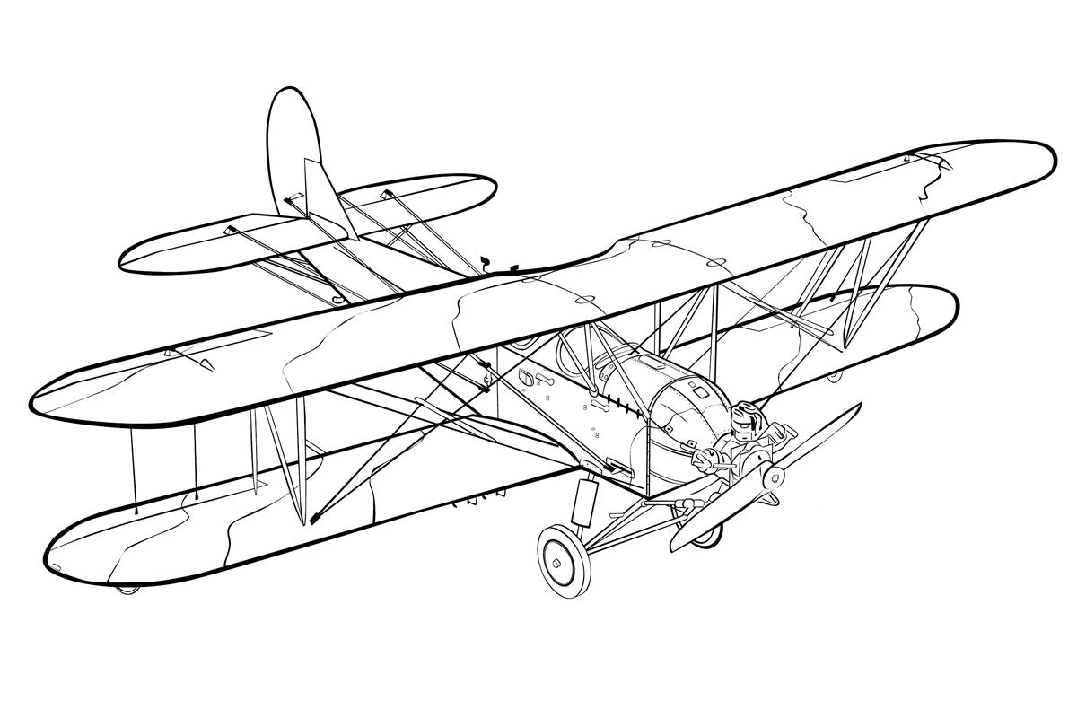 Раскраска Самолет ПО-2 распечатать или скачать бесплатно