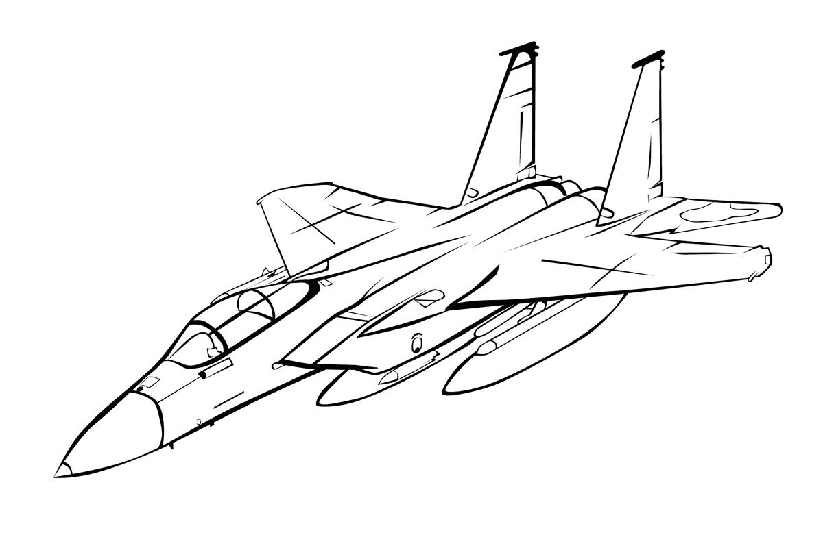 раскраска макдоннел дуглас F 15 игл распечатать или скачать