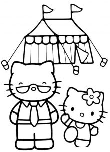 Раскраски Hello Kitty распечатать или скачать бесплатно