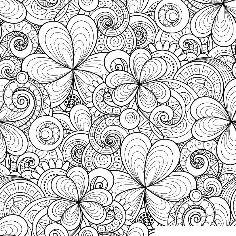 Раскраска Антистресс Орнамент Пейсли садовый распечатать ...