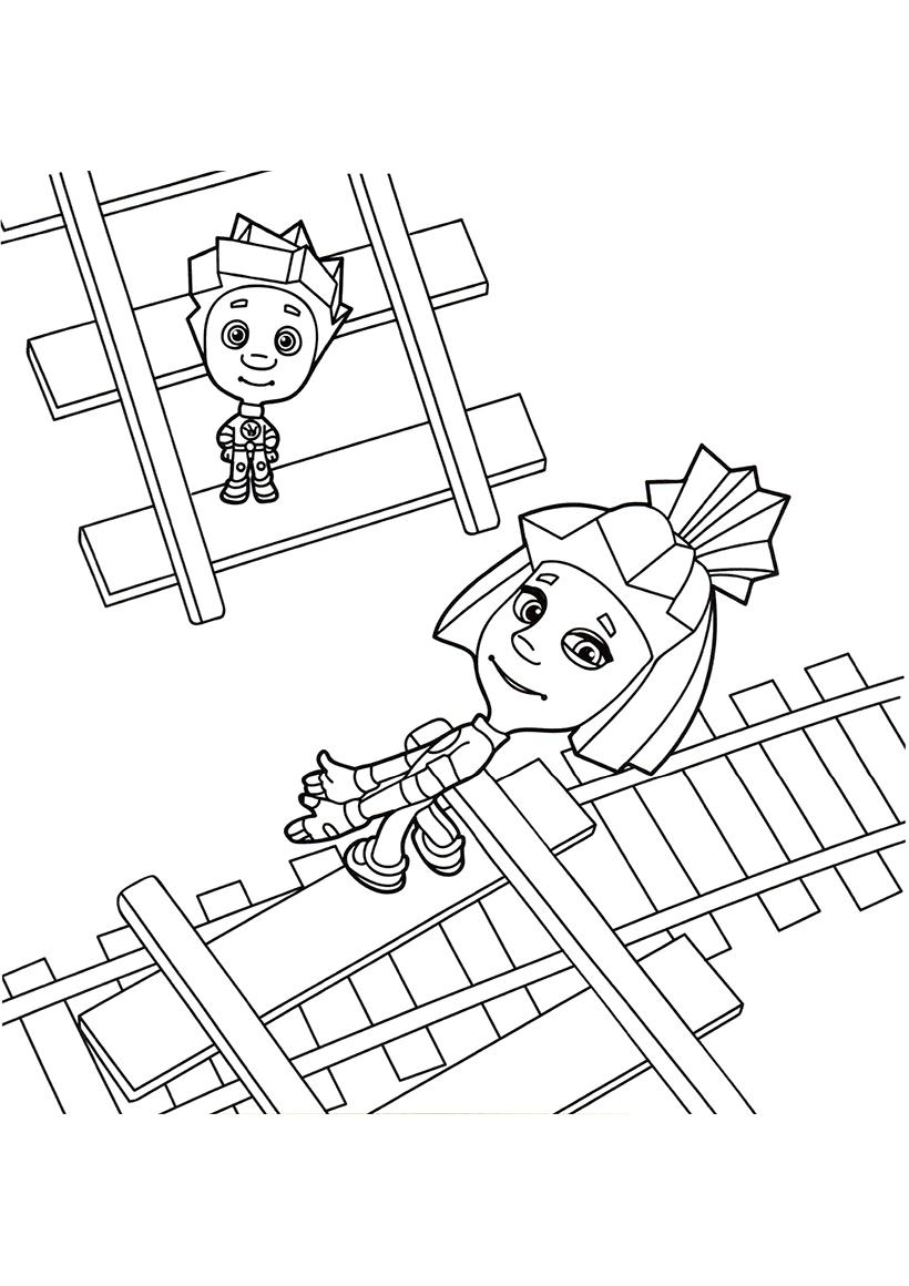 Картинки раскраски безопасность на железной дороге