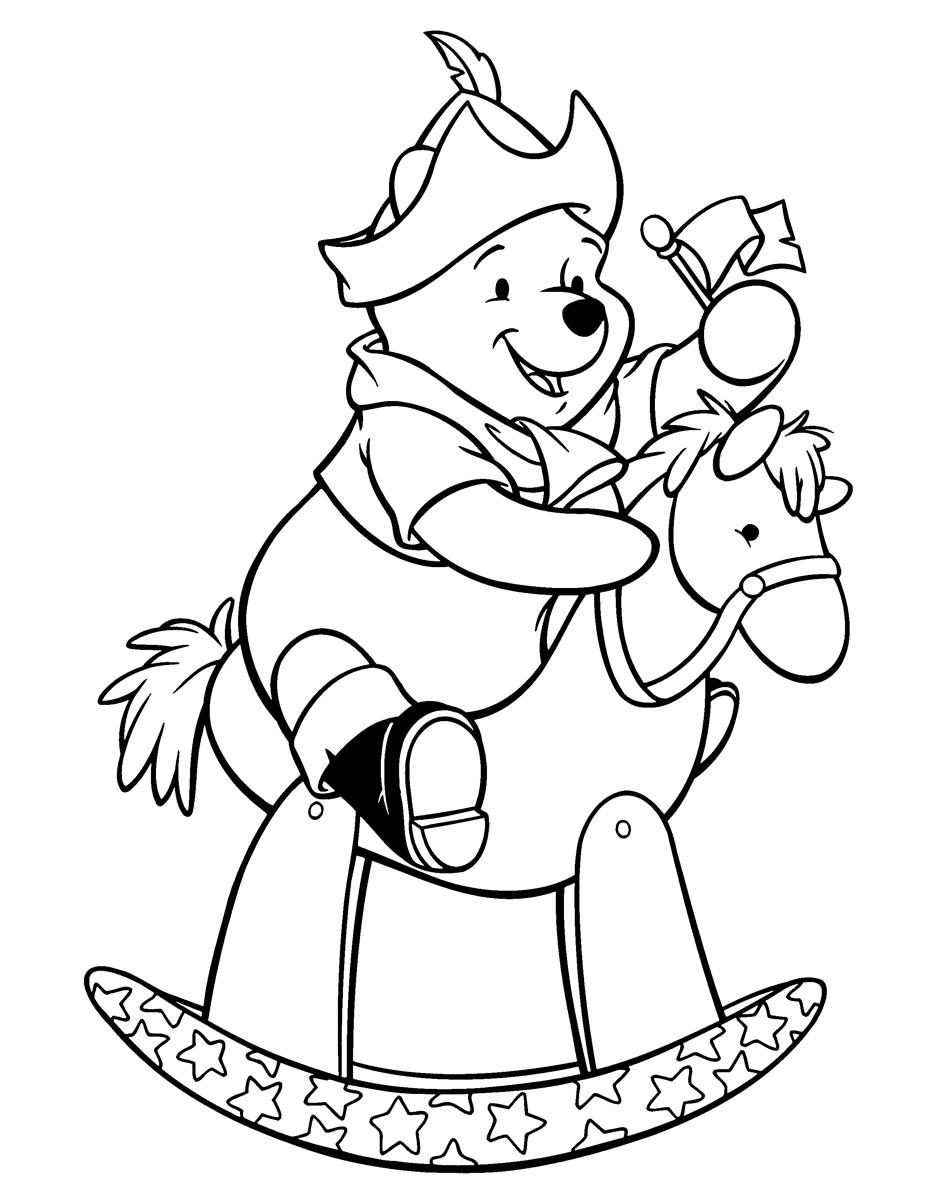 Раскраска Пух - Робин Гуд распечатать или скачать бесплатно
