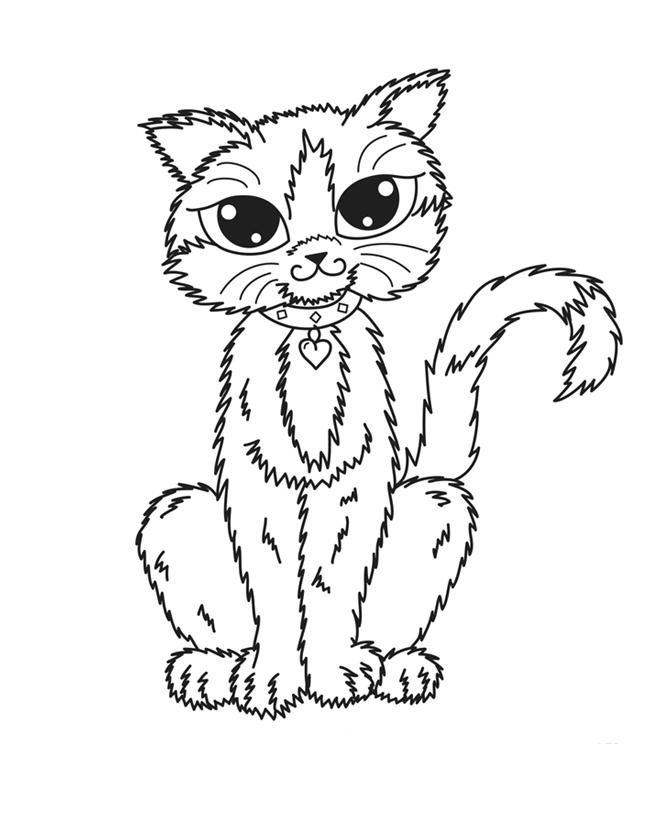 Раскраска Кот с медалью распечатать или скачать бесплатно