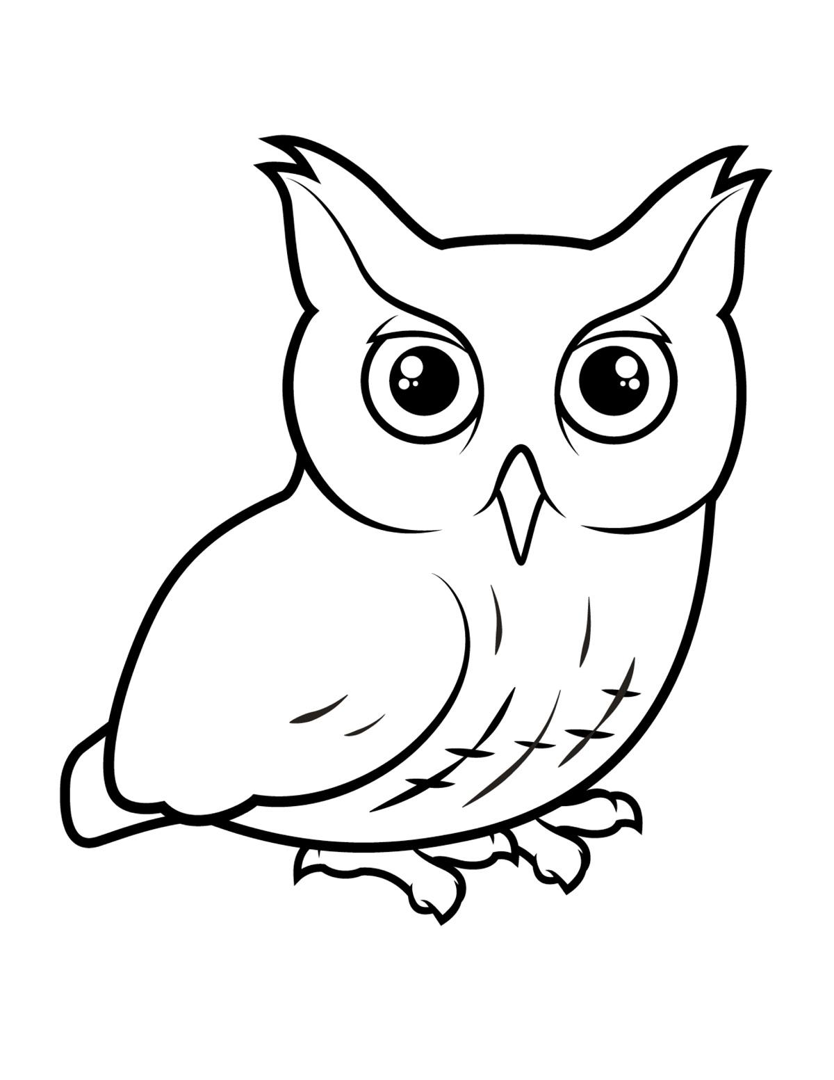 Раскраска Кричащая сова распечатать или скачать бесплатно