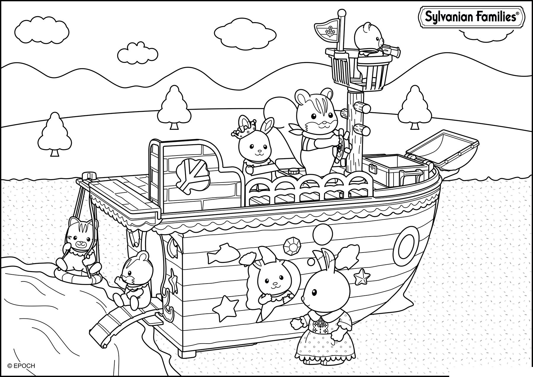 Раскраска Корабль Сильвании распечатать или скачать бесплатно