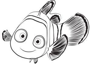 Раскраска Рыбка Дори распечатать или скачать бесплатно