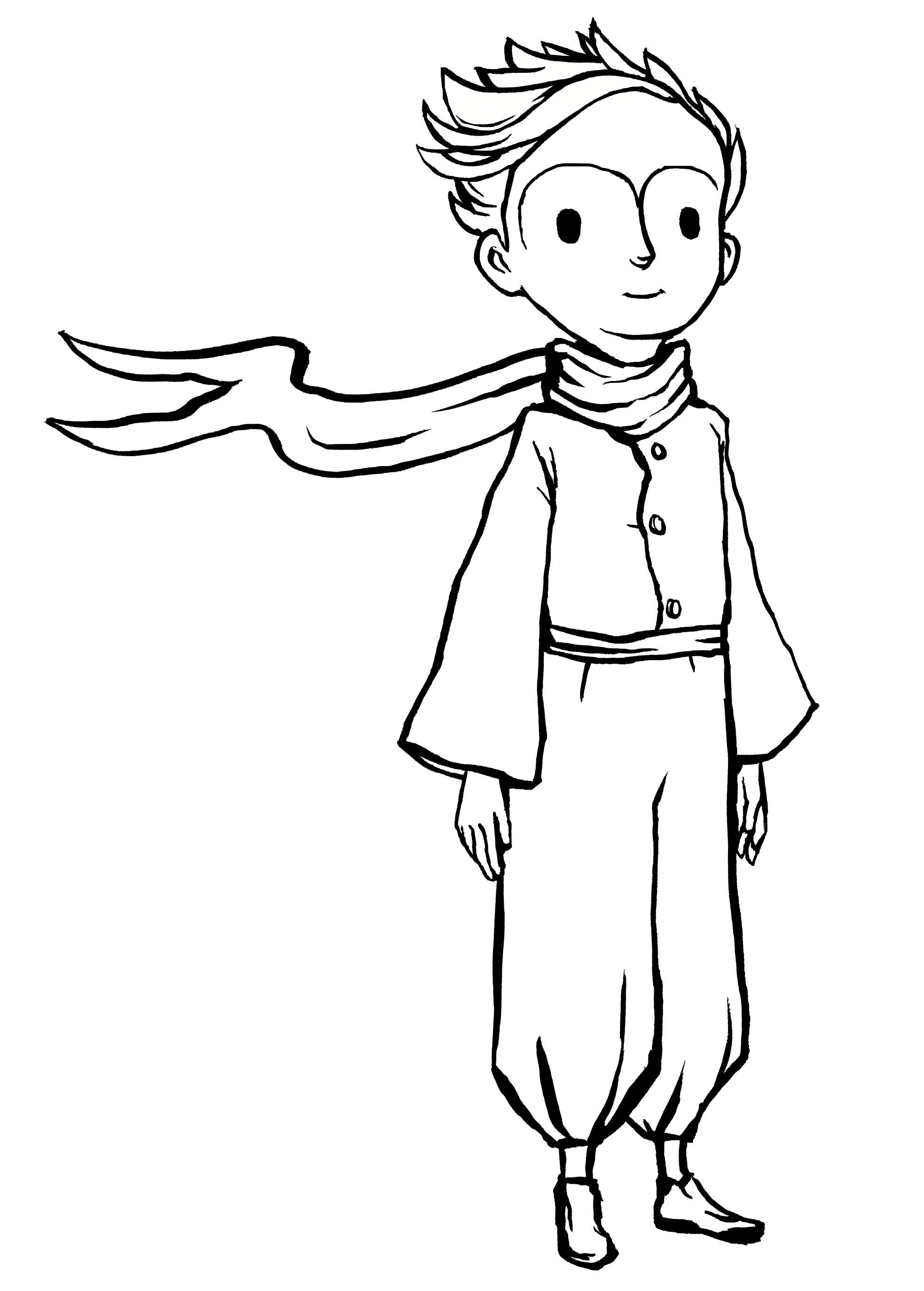 картинки раскраски к маленькому принцу после