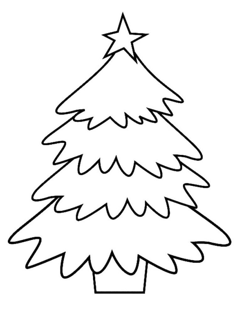 Раскраска Новогодняя елка в кадке распечатать или скачать ...