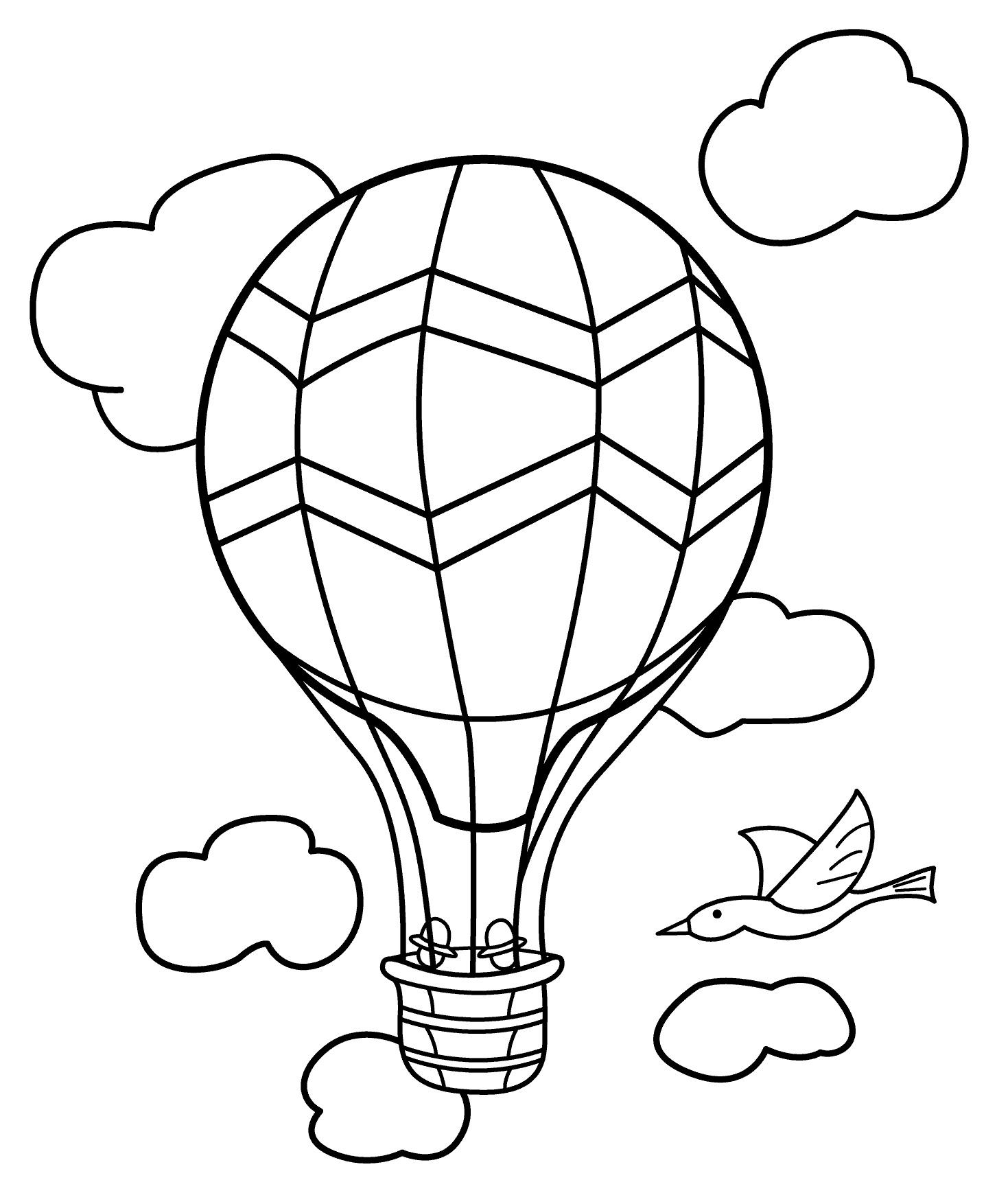 Раскраска Воздушный шар распечатать или скачать бесплатно