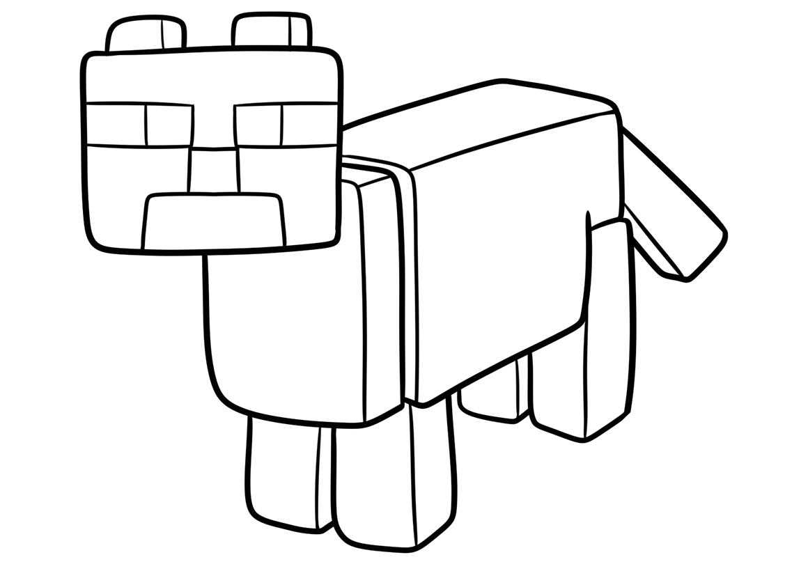 Раскраска оцелот из майнкрафта