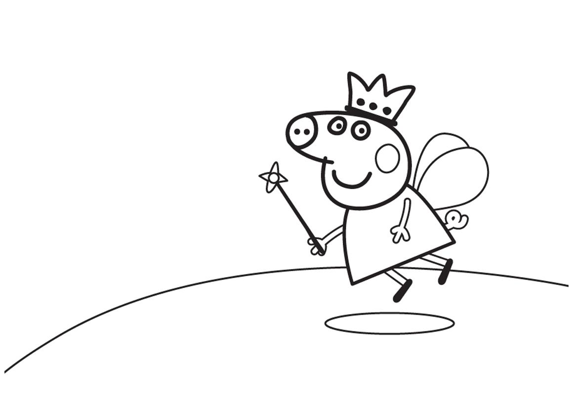 Раскраска Пеппа-волшебница распечатать или скачать бесплатно
