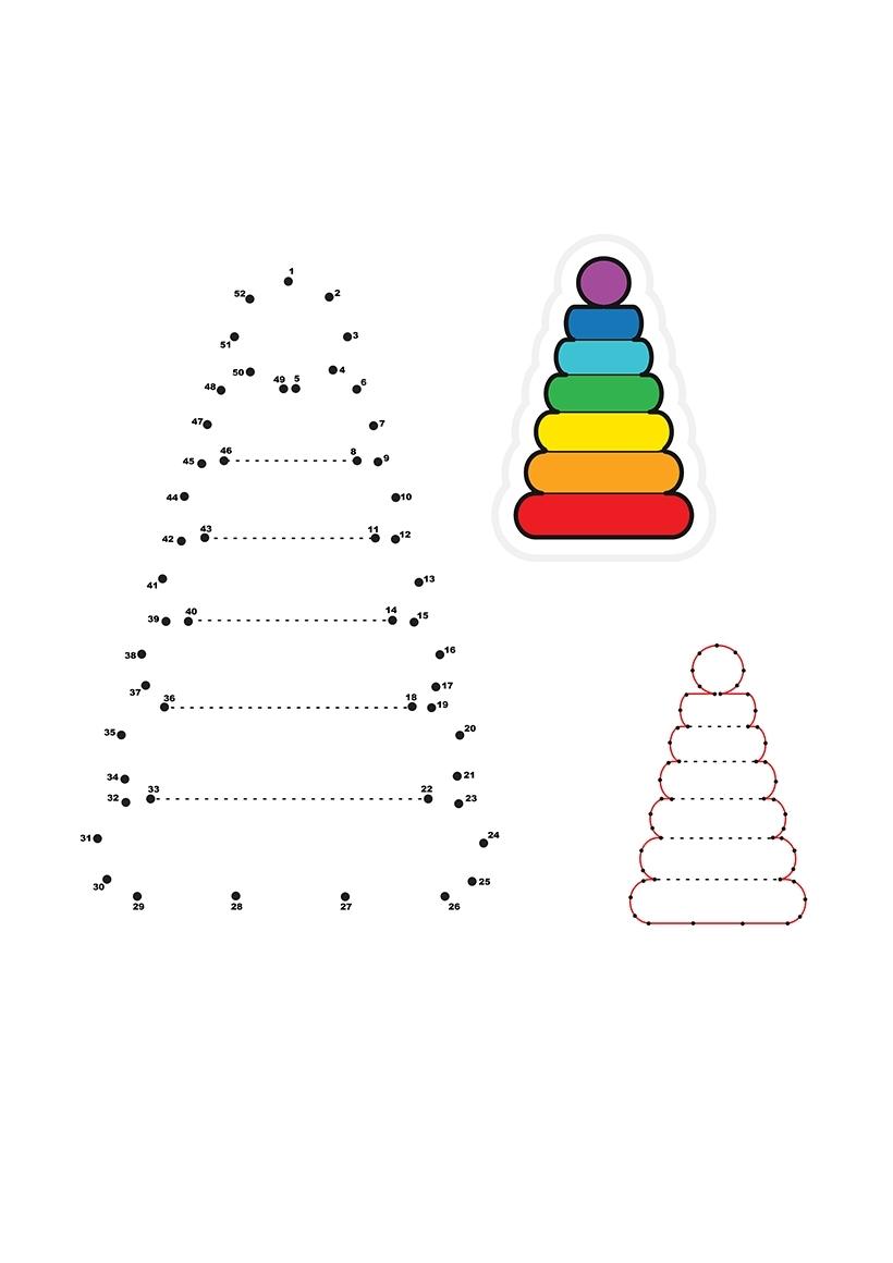 раскраска пирамидка по точкам распечатать или скачать бесплатно