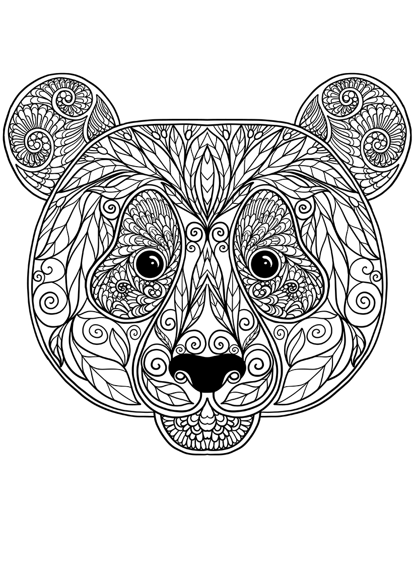Раскраска Панда распечатать или скачать бесплатно