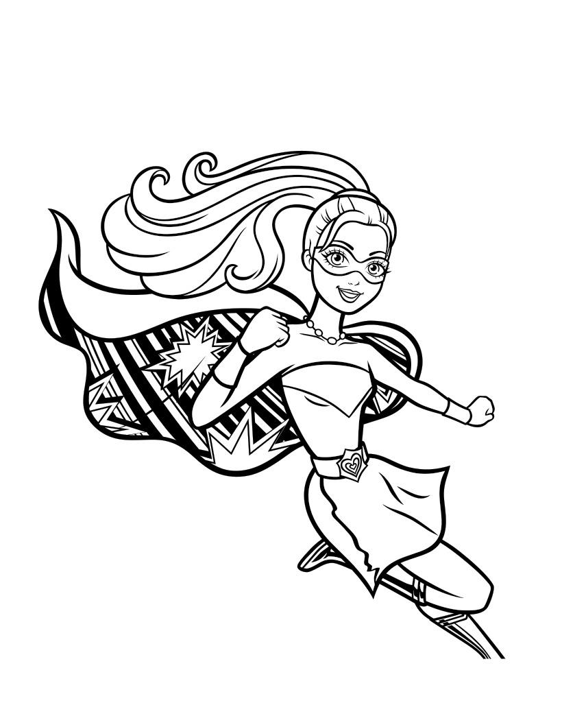 Раскраска Сила принцессы Барби распечатать или скачать ...