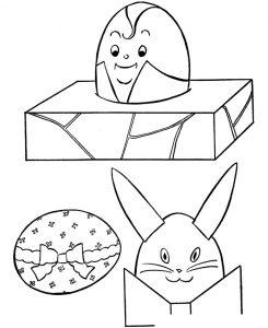 Раскраска Подарок на Пасху распечатать или скачать бесплатно