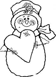 Раскраска Собака, кот и птички собрались у Снеговика ...