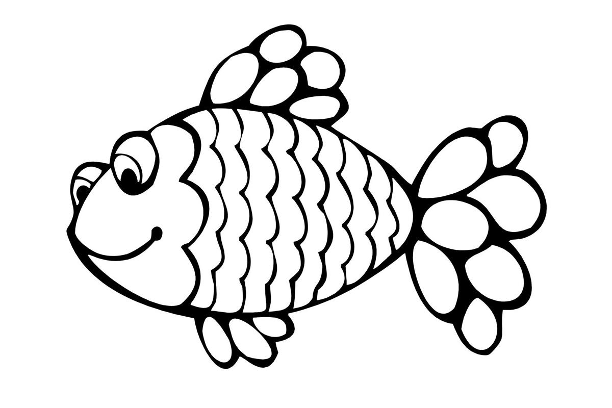 раскраска рыба распечатать или скачать бесплатно
