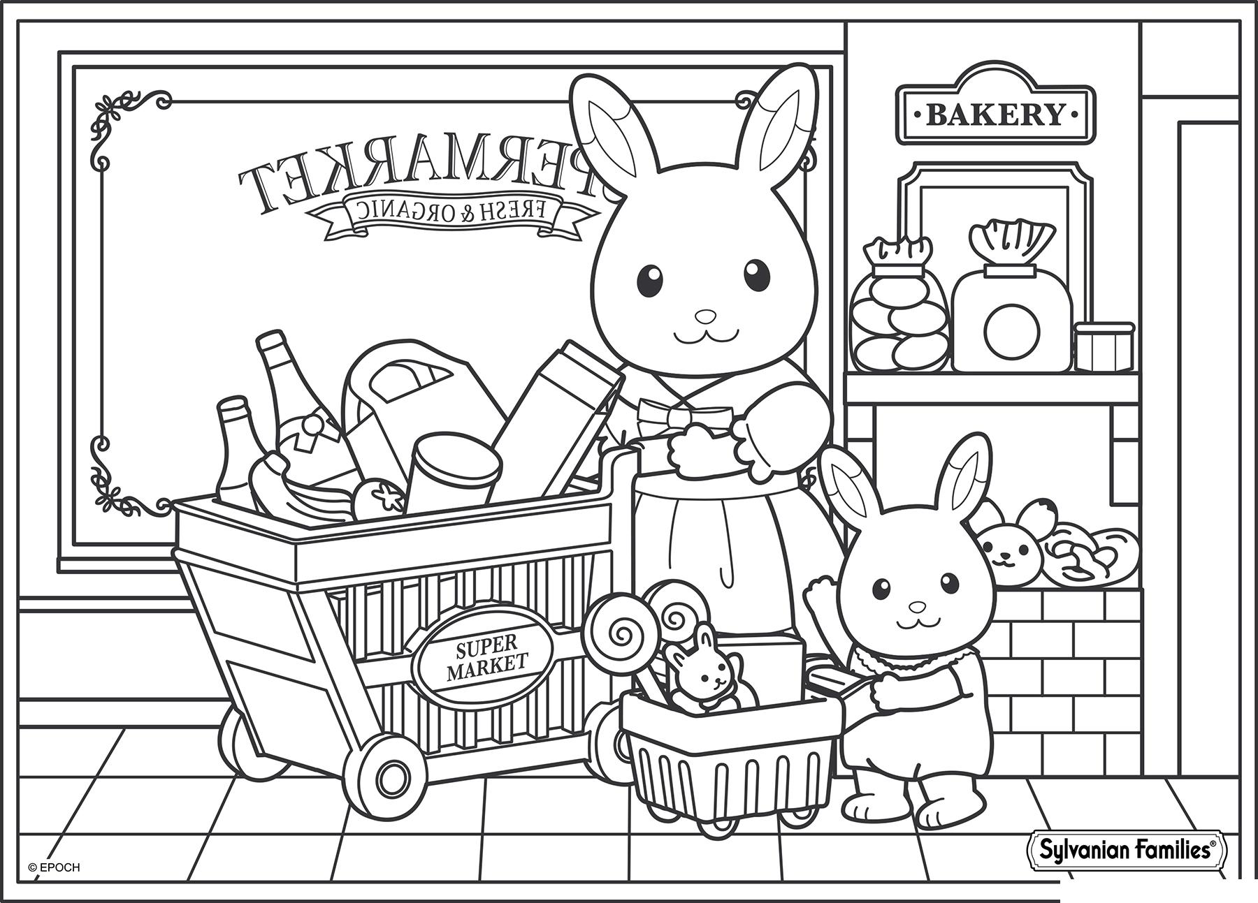 Магазин раскраска для детей