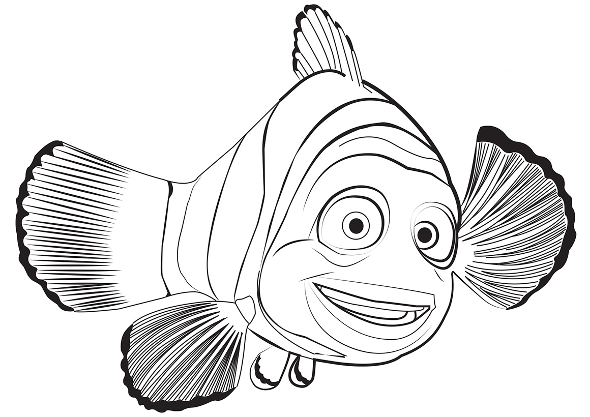 Раскраска Рыбка Марлин распечатать или скачать бесплатно