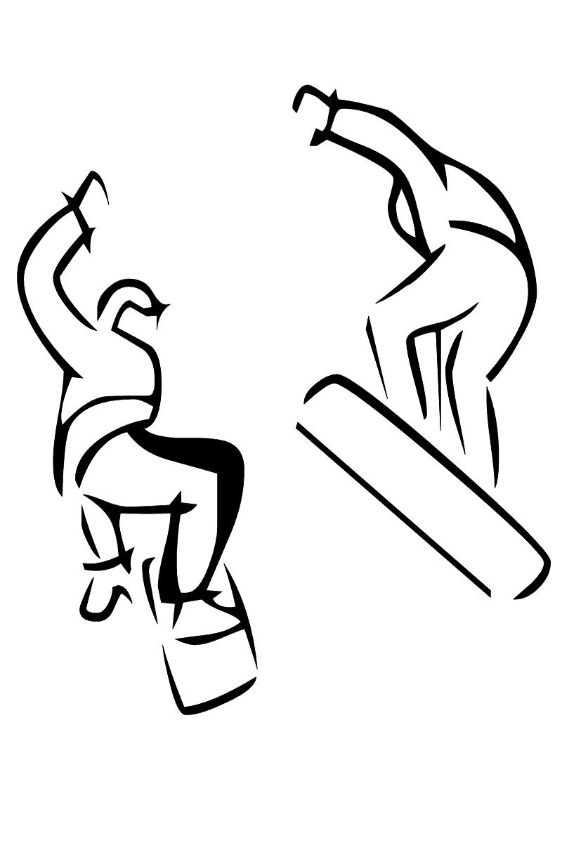 Раскраска сноуборд распечатать или скачать бесплатно