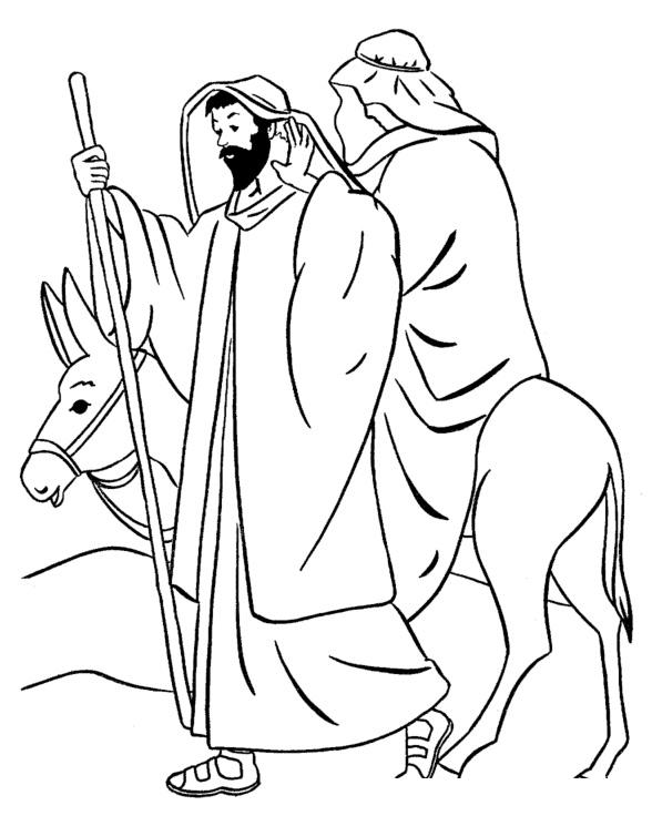 Раскраска Весть о рождении Христа распечатать или скачать ...