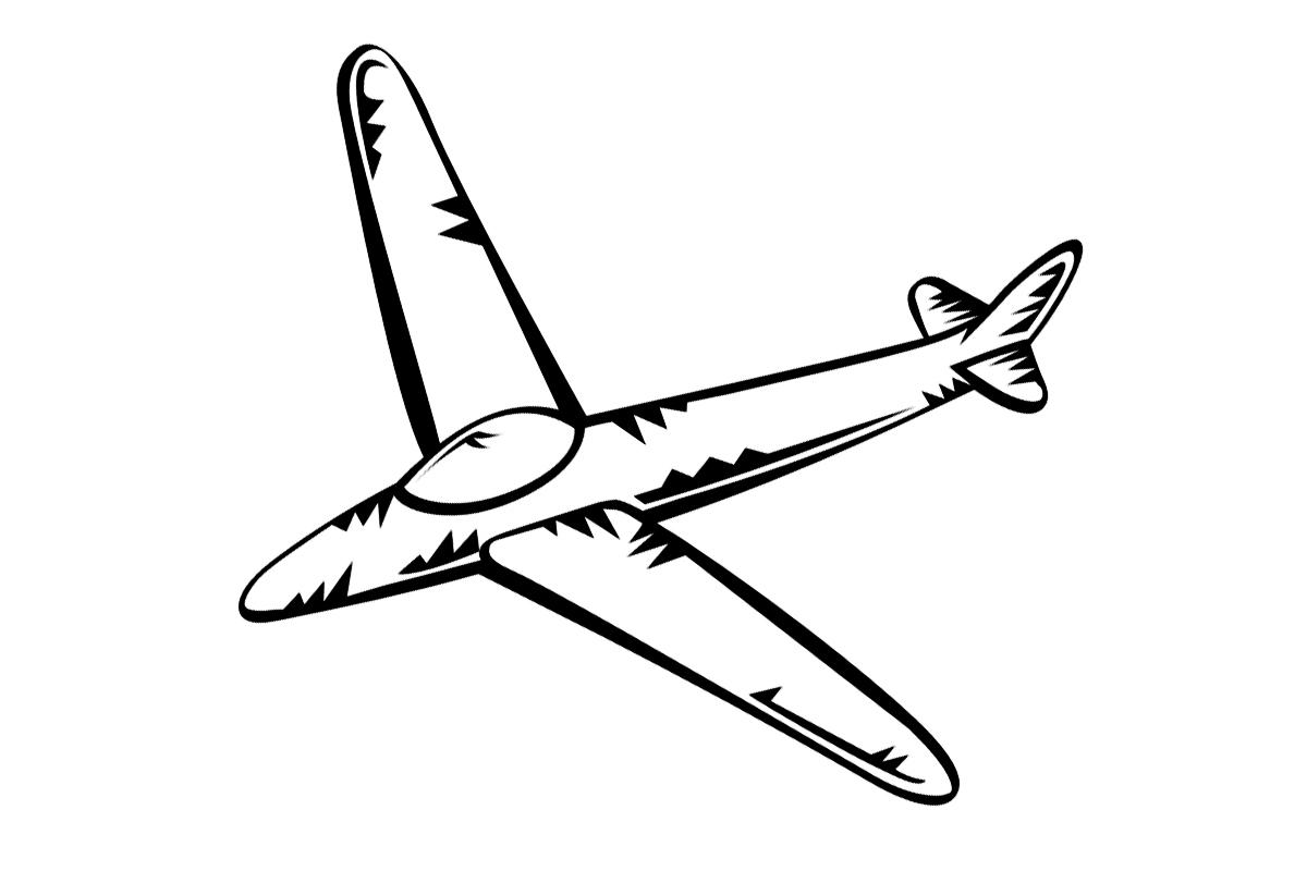 Раскраска Самолетик распечатать или скачать бесплатно