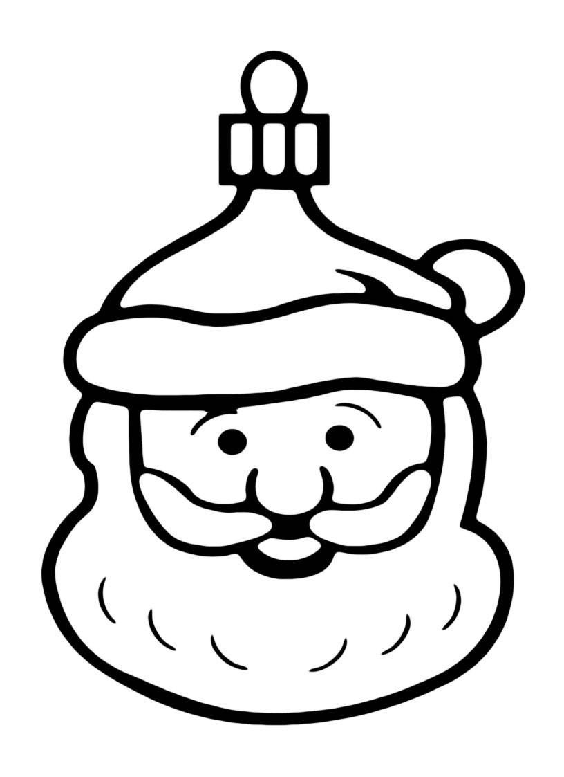 Раскраска Санта Клаус для малышей распечатать или скачать ...