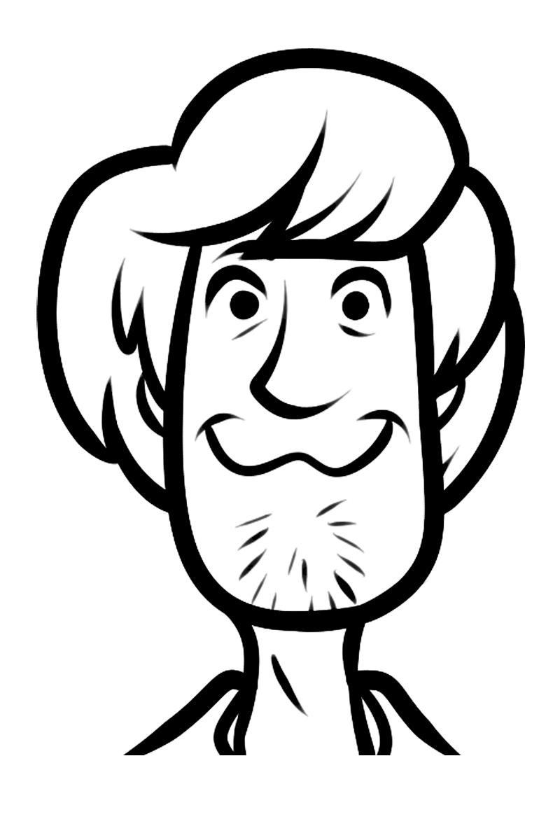 Раскраска Лицо Шэгги распечатать или скачать бесплатно