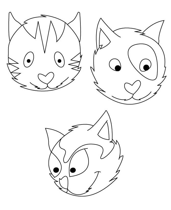 Раскраска Три кота распечатать или скачать бесплатно