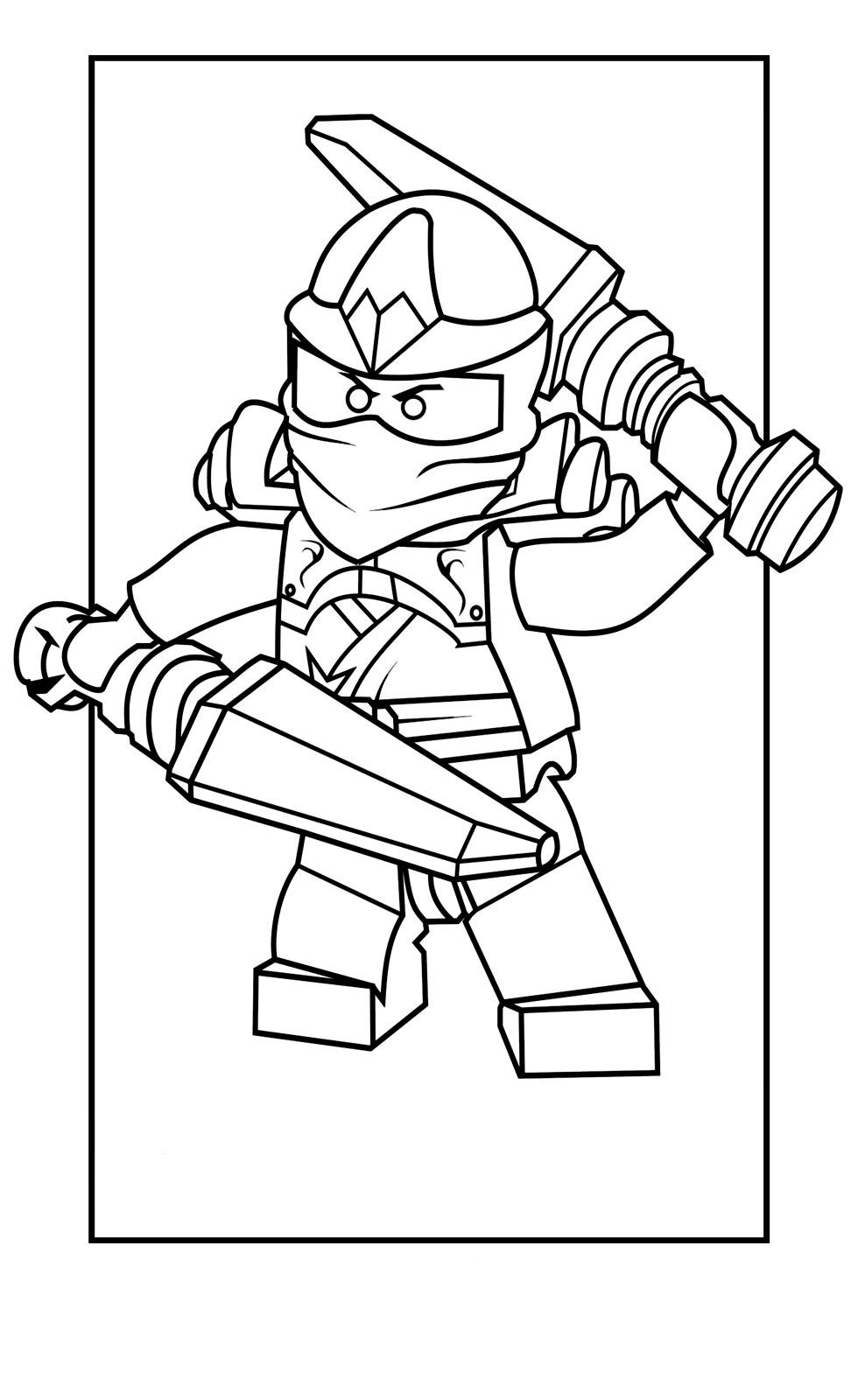 раскраска Ninjago Kai Zx распечатать или скачать бесплатно