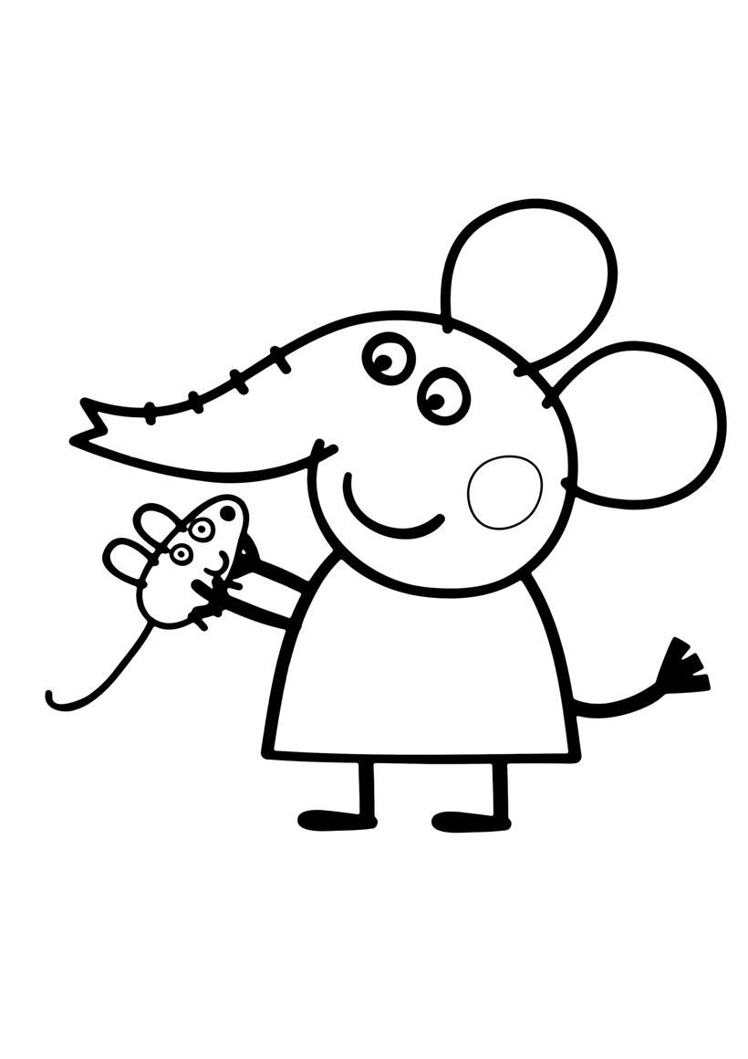 Раскраска Слонёнок Эмили распечатать или скачать бесплатно