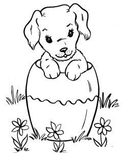 Раскраска Собака идёт в школу распечатать или скачать ...