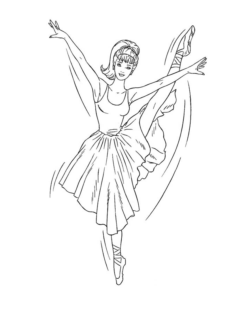 Раскраска Барби - 12 танцующих принцесс распечатать или ...