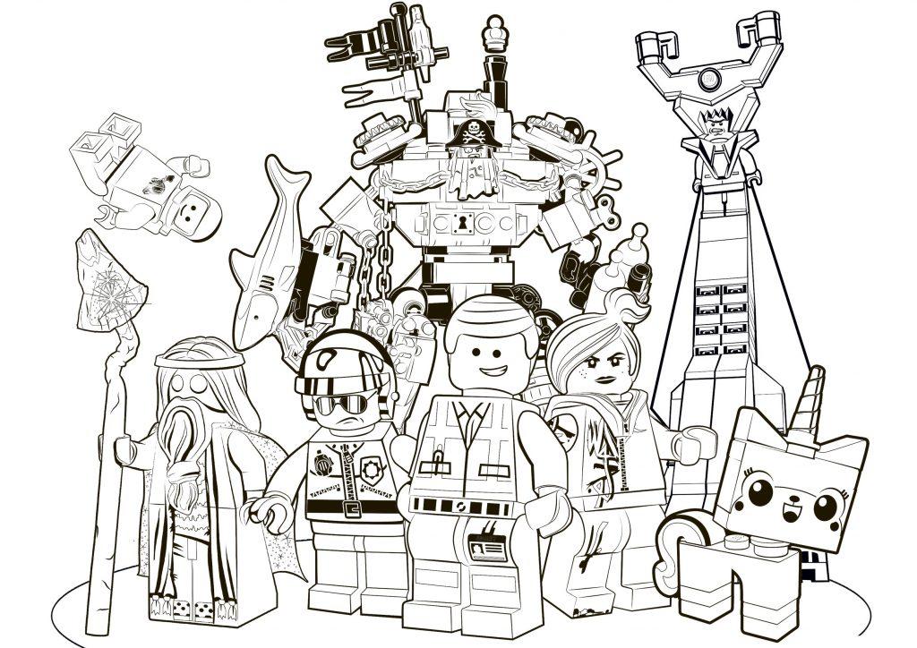 Раскраска Главные герои Лего. Фильм распечатать или ...