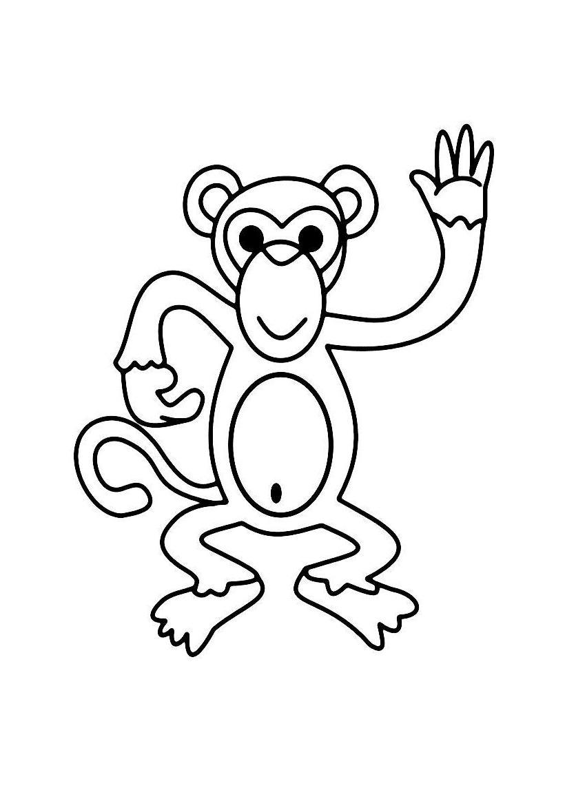 Картинки обезьян раскраска